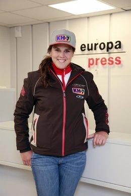 Laia Sanz visita Europa Press