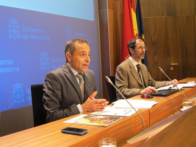 Juan Luis Sánchez de Muniáin y Carlos Erce en la rueda de prensa