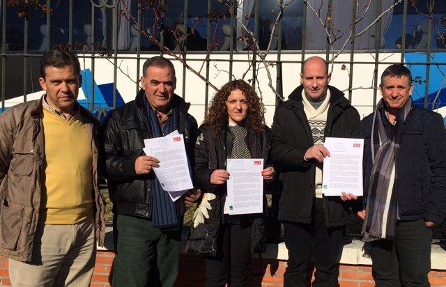 Alcaldes socialistas de Jaén, hoy en Moncloa