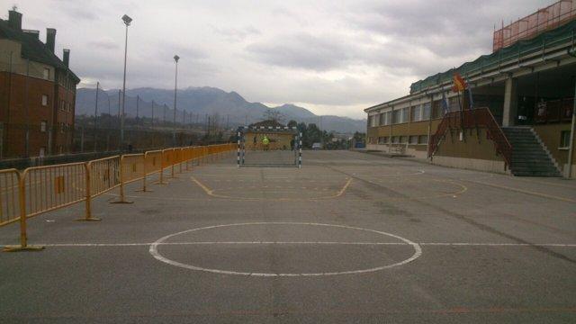 Obras de ampliación del colegio público de Las Campas, en Oviedo