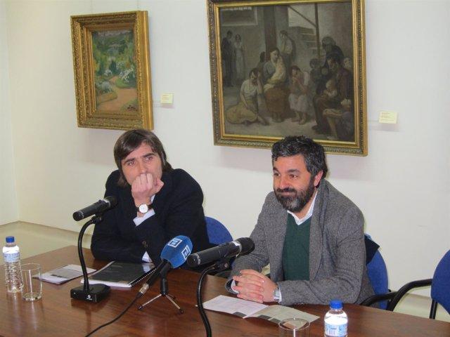 Alfonso Palacio y Alejandro Calvo en el Museo de Bellas Artes.