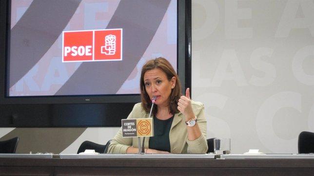 La diputada del PSOE en las Cortes de Aragón, Mayte Pérez