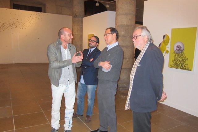 Rico, Gómez, Cámara y Fernández-Delgado en la exposición