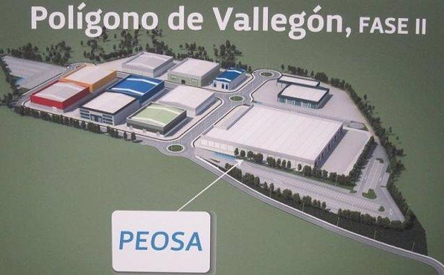 Infografía de la empresa SIBAN-PEOSA en el polígono de Vallegón fase II