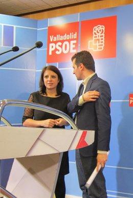 Tudancan junto a Adriana Lastra antes de la rueda de prensa