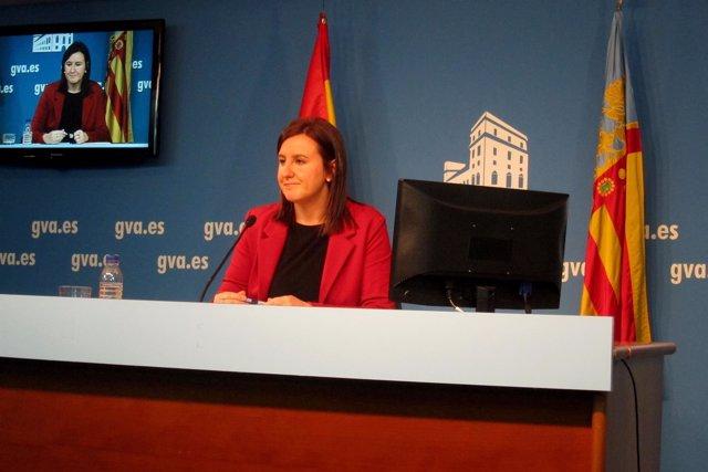 María José Català en la rueda de prensa posterior al pleno del Consell