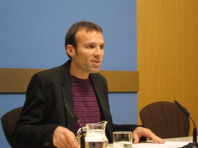 El concejal de IU, Pablo Muñoz