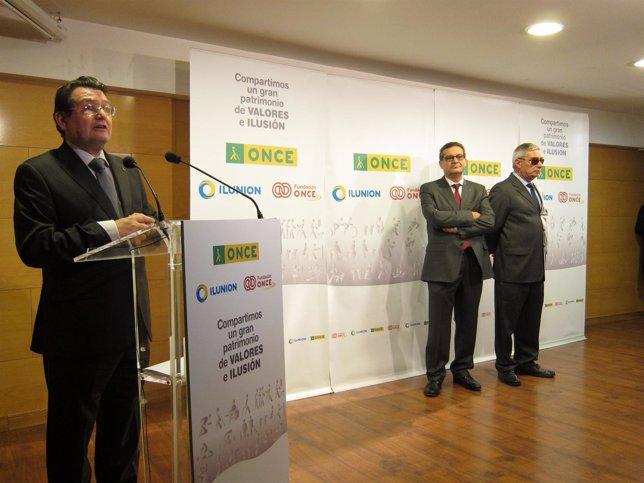 Ángel Sánchez ha presidido el acto este viernes en la sede de ONCE en Zaragoza