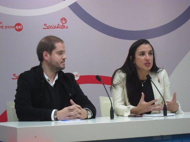 Iván Puentes y Mónica González (PSOE)