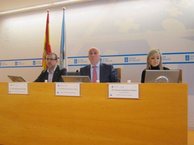 El gerente del Sergas, Antonio Fernández-Campa, informa de los datos de espera