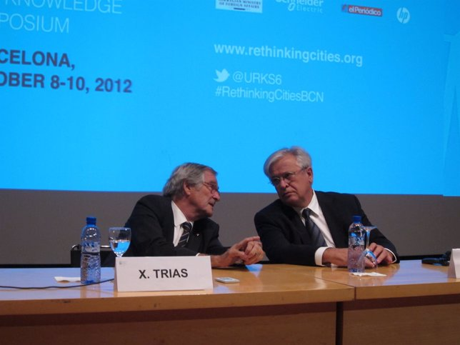 El alcalde de Barcelona, Xavier Trias, y el exalcalde Joan Clos (Archivo)