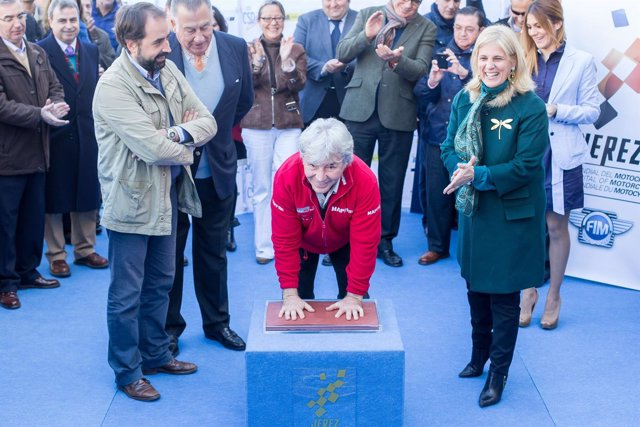 Ángel Nieto inaugura al Paseo de la Fama de Jerez