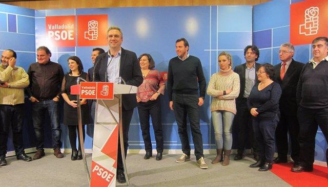 Reunión de Tudanca y Lastra con los alcaldes y portavoces de Valladolid