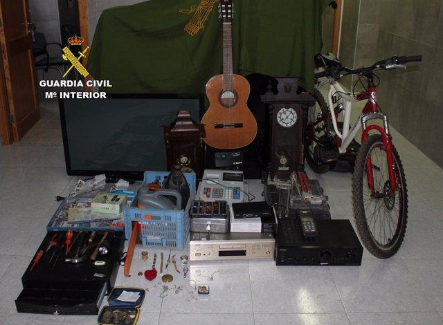 Objetivos mostrados por la Policía