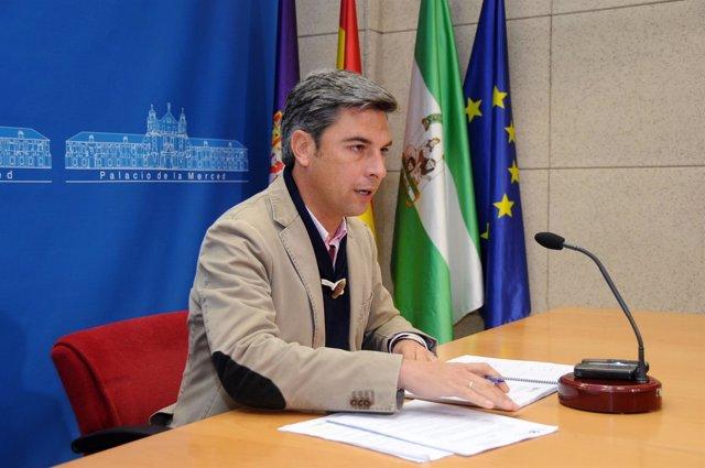 El portavoz del gobierno del PP en la Diputación, Andrés Lorite
