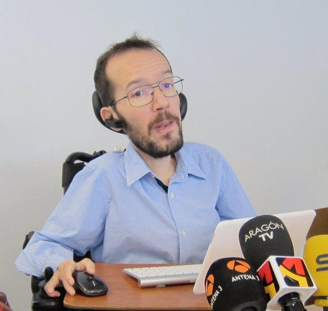 El eurodiputado de Podemos, Pablo Iglesias