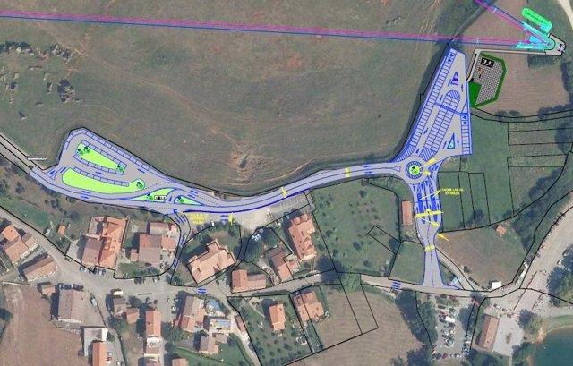 Acceso contemplado en el proyecto de la telecabina de Cabárceno