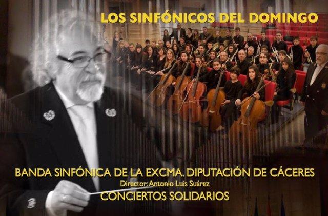 Los 'Sinfónicos del domingo' de la Banda de la Diputación de Cáceres