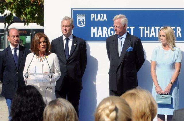Plaza dedicada a Margaret Thatcher