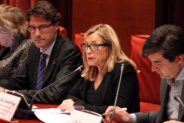 La vicepresidenta Joana Ortega, en el Parlament