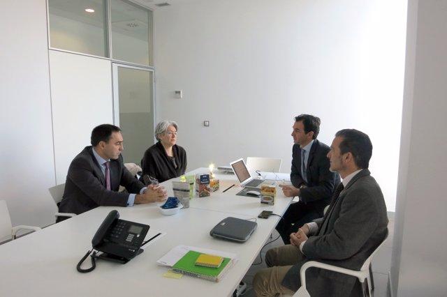 Morcillo y Goicoechea, con Francesco Rossi y Santiago Orlando