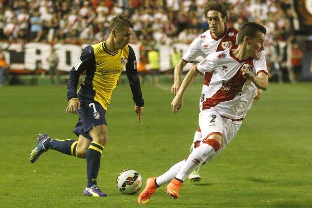 Atlético Madrid Antoine Griezmann Rayo Vallecano Roberto Triguero Baena