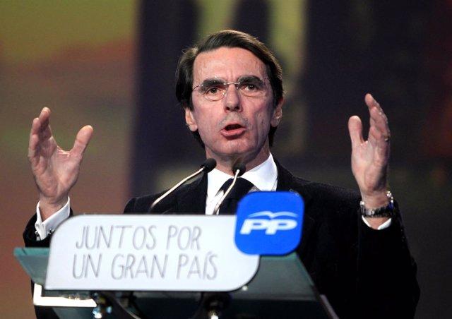 José María Aznar en la Convención del PP