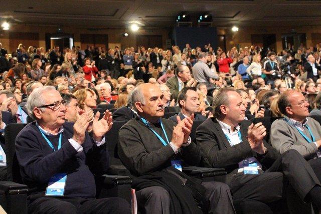 El presidente Alberto Garre en la Convención del PP