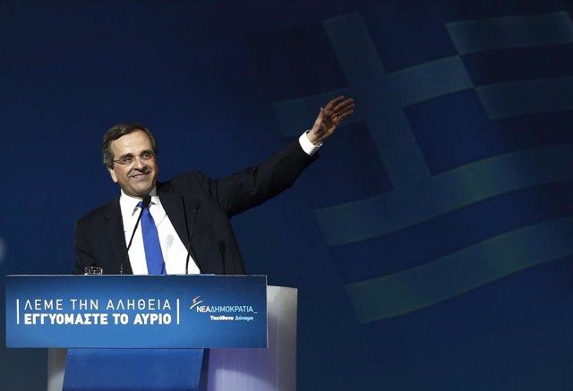 El primer ministro de Grecia, Antonis Samaras