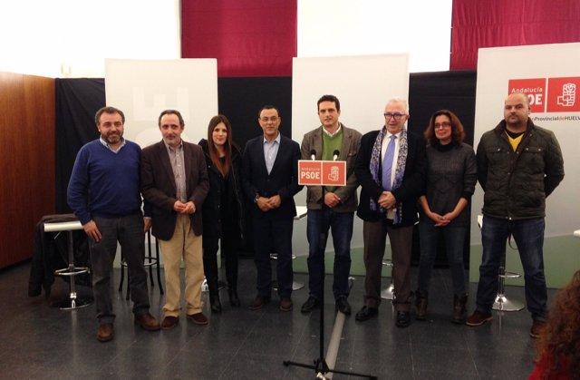 Caraballo y Maldonado, con alcaldes de la comarca minera de Huelva