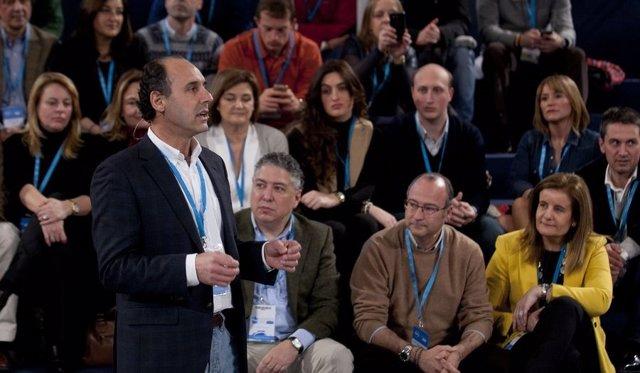 Ignacio Diego en la Convención Nacional del PP