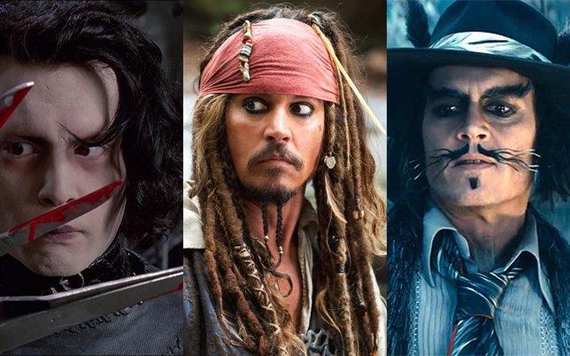 Los personajes de Johnny Depp