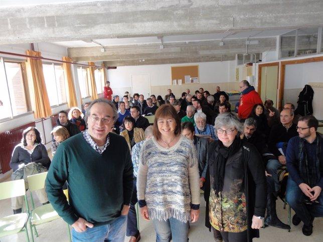 Armengol en una asamble abierta sobre educación
