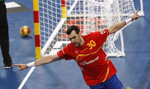 Gedeón Guardiola, España balonmano