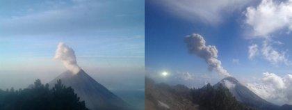 El volcán de Fuego de Colima lanza ceniza a 2.500 metros de altura