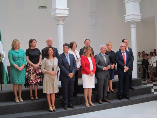 Miembros del Consejo de Gobierno de la Junta de Susana Díaz