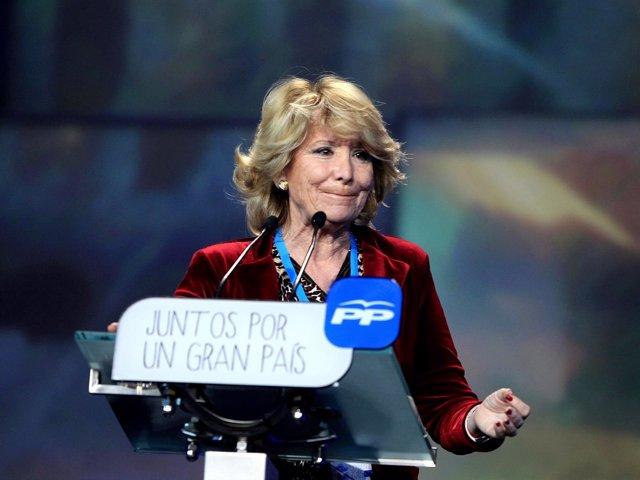 Esperanza Aguirre en la Convención Nacional del PP