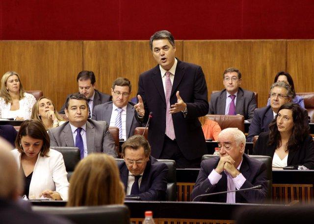 Carlos Rojas, en la sesión de control