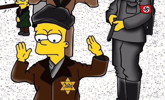 Los Simpson en un campo de concentración