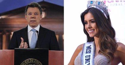 """Juan Manuel Santos: """"Paulina Vega es un ejemplo de Colombia para el mundo"""""""