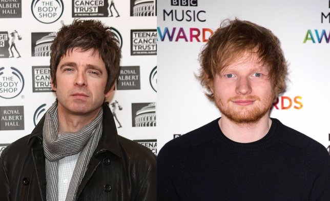 Noel Gallagher y Ed Sheeran