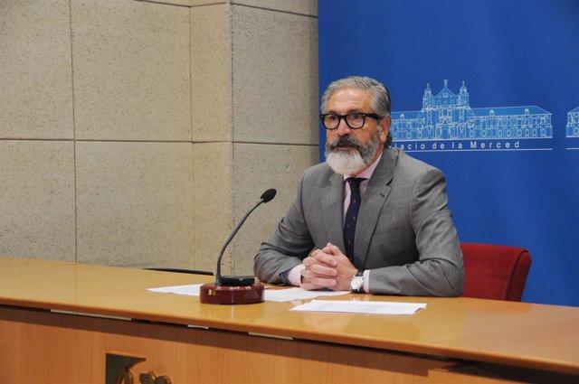 El delegado de Cultura de la Diputación, Antonio Pineda
