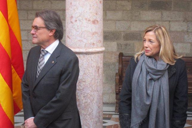 El presidente catalán, Artur Mas, y la vicepresidenta, Joana Ortega