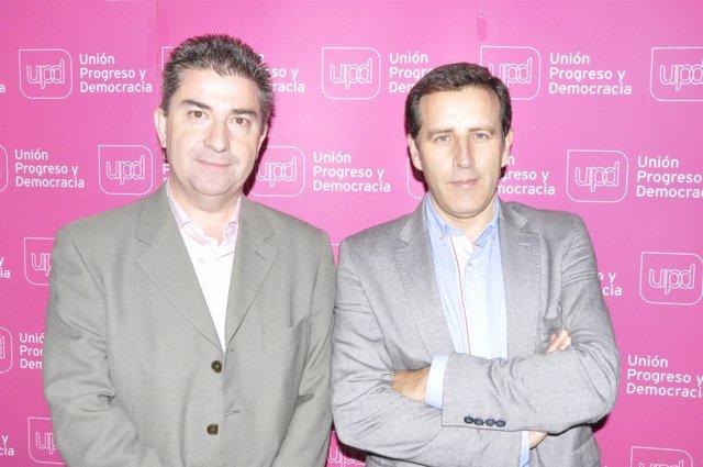 Javier Puy y Carlos Aparicio, de UPyD.