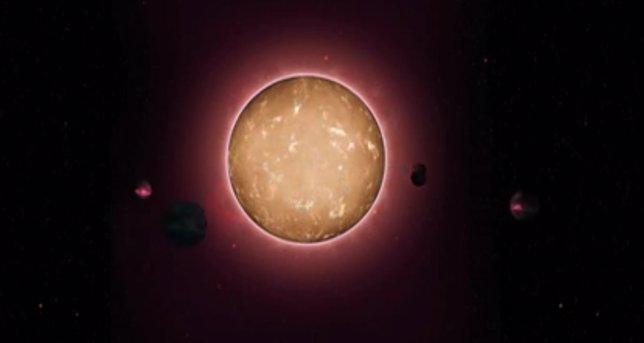 Un anciano sistema solar