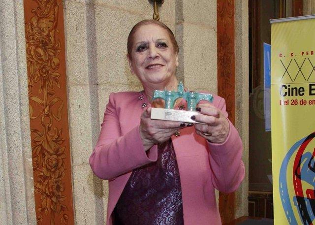 Terele Pávez recibe el premio Puerta de Toledo por toda una vida dedicada al cin