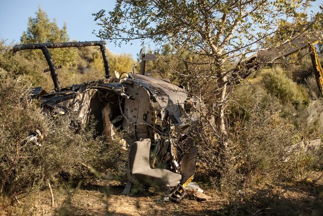Helicóptero accidentado dos fallecidos cargado de droga