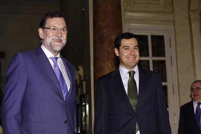 Rajoy y Juan Manuel Moreno
