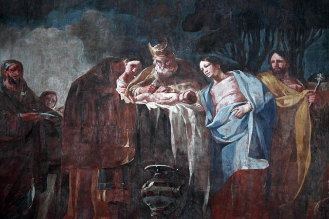 Una de las obras de Goya en Aula Dei