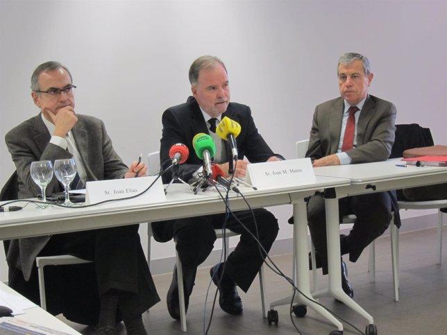 Economistas Joan Elias, Joan Maria Mateu, Modest Guinjoan (Col·legi Economistes)